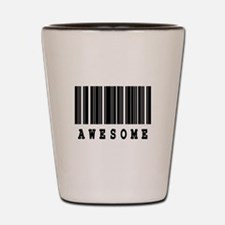 Awesome Barcode Design Shot Glass