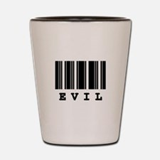 Evil Barcode Design Shot Glass