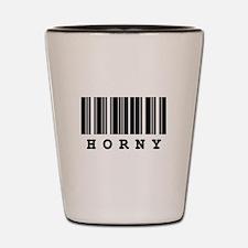 Horny Barcode Design Shot Glass