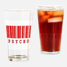 Psycho Barcode Design Pint Glass