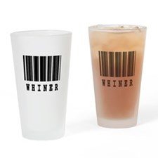 Whiner Barcode Design Pint Glass