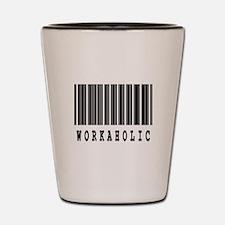 Workaholic Barcode Design Shot Glass