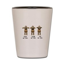 Hear No Evil Monkeys Shot Glass