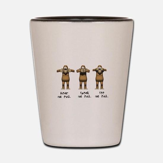 Hear No Evil Monkeys Shot Glass