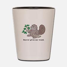 Beaver gives me Wood Shot Glass
