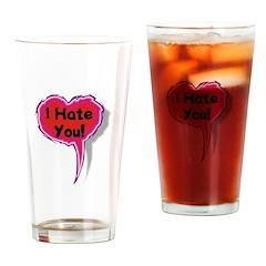 I Hate You Heart Speak Balloo Pint Glass