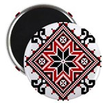 "Folk Design 7 2.25"" Magnet (10 pack)"