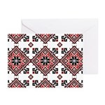 Folk Design 7 Greeting Cards (Pk of 10)