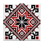Folk Design 7 Tile Coaster