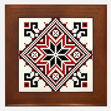 Folk Design 7 Framed Tile
