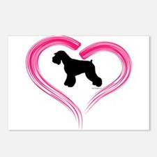 Heart My Schnauzer Natural Ea Postcards (Package o