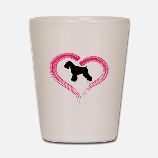 Heart My Schnauzer Natural Ea Shot Glass