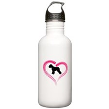 Heart My Schnauzer Natural Ea Water Bottle