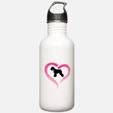 Heart My Schnauzer Natural Ea Water Bottle