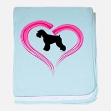 Heart My Schnauzer Natural Ea baby blanket