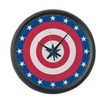 Stars bullseye Large Wall Clock