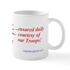 """Freedom Ensured"" Mug"