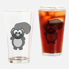 Cute Goofkins Gray Squirrel Pint Glass