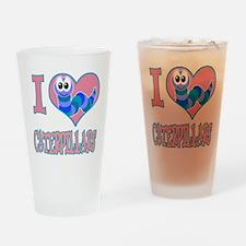 I Love (Heart) Caterpillars Pint Glass