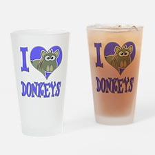 I Love (Heart) Donkeys Pint Glass