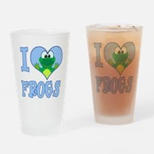 I Love (Heart) Frogs Pint Glass