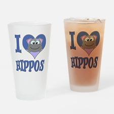I Love (Heart) Hippos Pint Glass