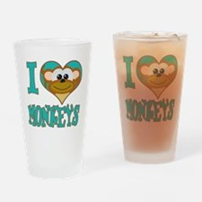 I Love (Heart) Monkeys Pint Glass