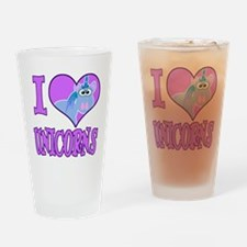 I Love (Heart) Unicorns Pint Glass