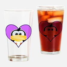 Cute Goofkins Penguin in Hear Pint Glass