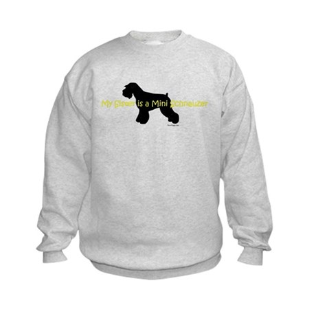 My Sister is a Mini Schnauzer Kids Sweatshirt