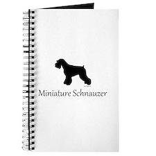 Miniature Schnauzer Silhouett Journal