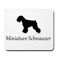 Miniature Schnauzer Silhouett Mousepad