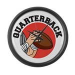 Quarterback Large Wall Clock