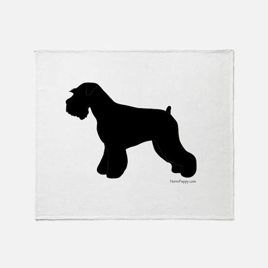 Plain Mini Schnauzer Throw Blanket