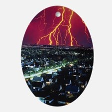 Storm Coming Ornament (Oval)