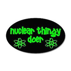 funny nuclear 22x14 Oval Wall Peel