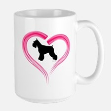Heart My Schnauzer Large Mug