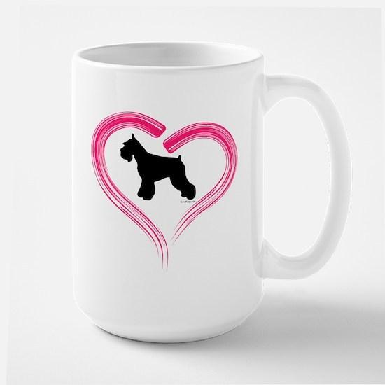 Heart My Schnauzer Large Mug