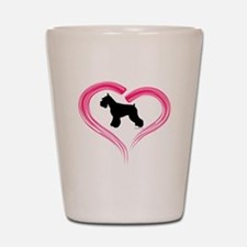 Heart My Schnauzer Shot Glass