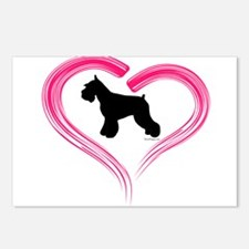 Heart My Schnauzer Postcards (Package of 8)