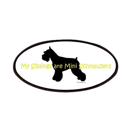 My Siblings are Schnauzers Patches
