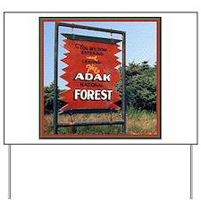 Adak Sign Yard Sign