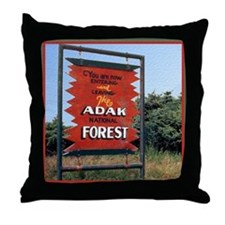 Adak Sign Throw Pillow