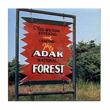 Adak Sign Tile Coaster