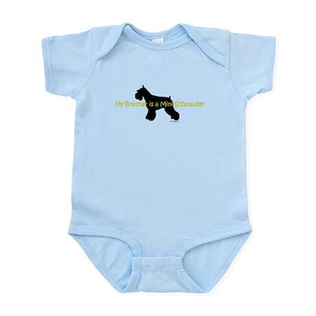 My Brother is a Mini Schnauze Infant Bodysuit