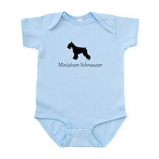 Miniature Schnauzer Silhouett Infant Bodysuit