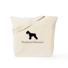 Miniature Schnauzer Silhouett Tote Bag