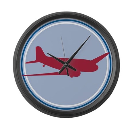 Plane Large Wall Clock