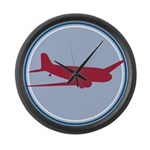 Plane Large Wall Clock