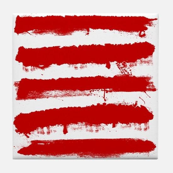 Rebel Stripes Tile Coaster